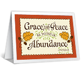 Grace and Peace greeting card