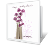 On Your Birthday and Always greeting card