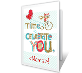 Celebration Time Birthday Printable Cards