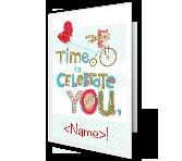Celebration Time Birthday Printable Cards