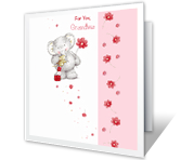 Loving Thoughts for Grandma Birthday Printable Cards