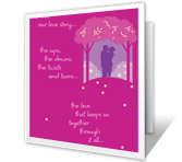 Our Love Story Birthday Printable Cards