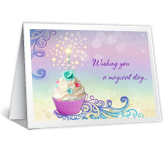 Sparkling Wishes Birthday Printable Cards