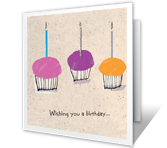 Sweet Wishes Birthday Printable Cards
