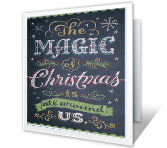 A Magical Time Christmas Printable Cards