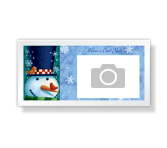 Cool Yule 4 x 8 Photo Card Christmas Printable Cards