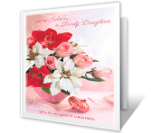 For a Lovely Daughter Christmas Printable Cards