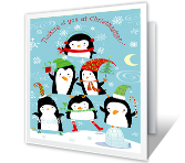 Happy Wishes Christmas Printable Cards