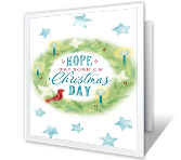 Hope was Born Christmas Printable Cards