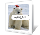 Merry Polar Bear Christmas Printable Cards
