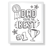 The Best Dad Ever! Father's Day Printable Cards