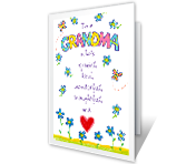 To a Special Grandma Grandparents Day Printable Cards