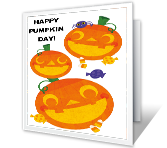 Happy Pumpkin Day! Halloween Printable Cards