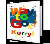 Way to Go! Holidays Printable Cards