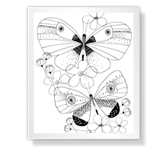 Butterfly Wishes Coloring Page Mother's Day Printable Cards