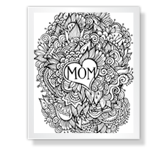 Coloring Page for Mom Mother's Day Printable Cards