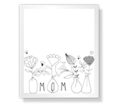 Floral Wishes for Mom Mother's Day Printable Cards