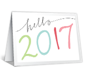 Hello 2017 New Year's Day Printable Cards