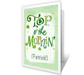 Top o' the Mornin' St. Patrick's Day Printable Cards