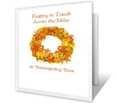 Keeping in Touch Thanksgiving Printable Cards