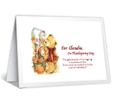 Thoughts Travel to You Thanksgiving Printable Cards