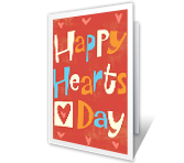 Happy Hearts Valentine's Day Printable Cards
