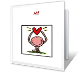 Hi! Valentine's Day Printable Cards