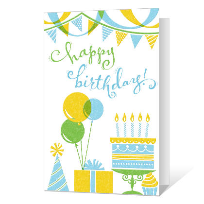 Festive Birthday Birthday Cards