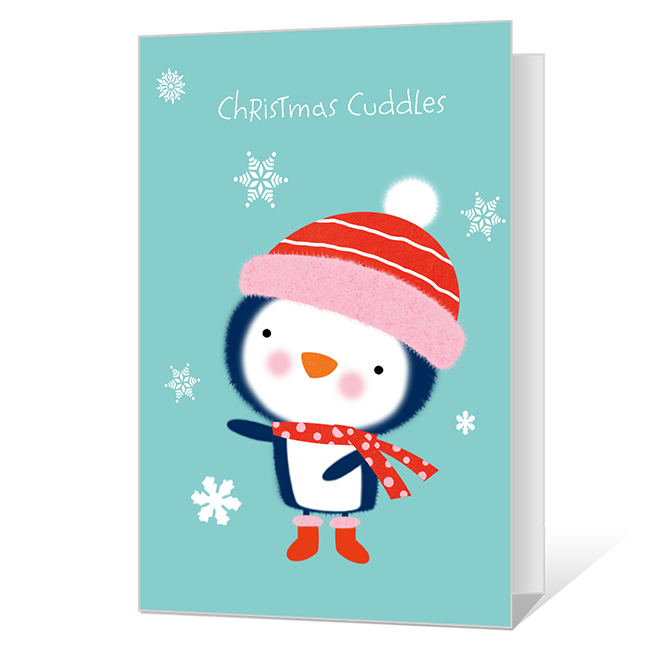 Christmas Cuddles Printable Christmas Cards