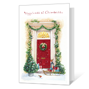 Happiness at Christmas greeting card