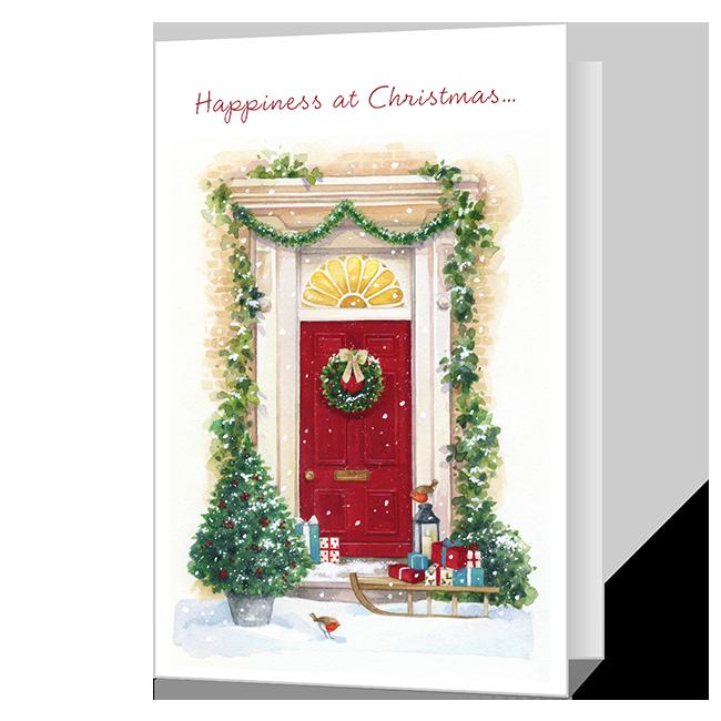 Happiness at Christmas Printable Christmas Cards