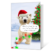 Merry Polar Bear greeting card