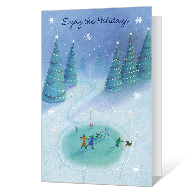 Enjoy the Holidays Printable Christmas Cards