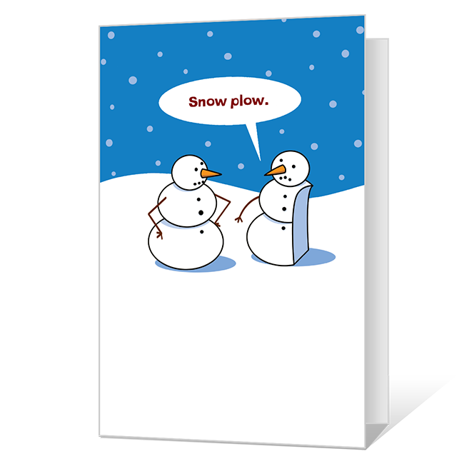 Snow Fun Printable Christmas Cards