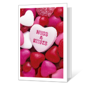 Hugs and Kisses greeting card