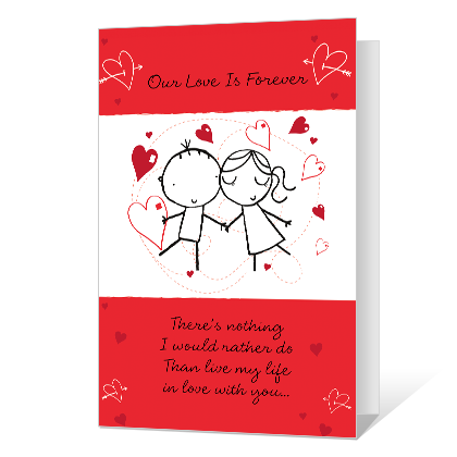 My Forever Love Printable Valentine's Day Cards