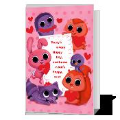 A Happy Valentine greeting card