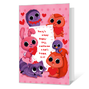 A Happy Valentine Valentine's Day Cards