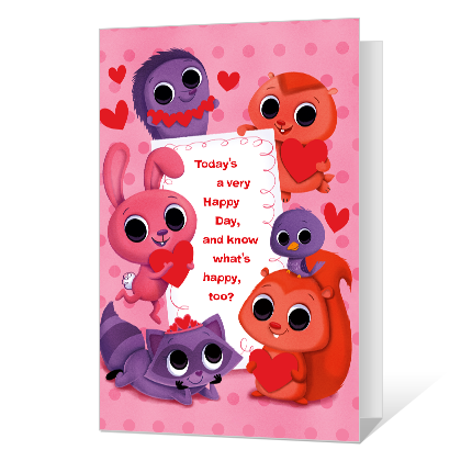 A Happy Valentine Valentine's Day Cards