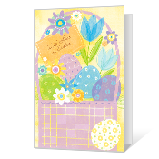 With Love at Easter greeting card