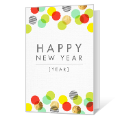 A Wonderful Year for You New Year's Day Cards