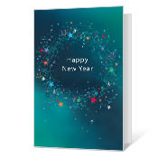 graphic relating to Printable New Years Cards identify Printable Fresh Decades Working day Playing cards Blue Mountain