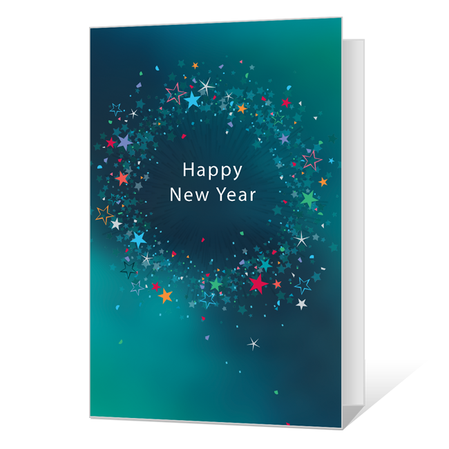 Happy Beginnings New Year's Day Cards