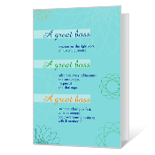 A Great Boss Boss's Day Cards
