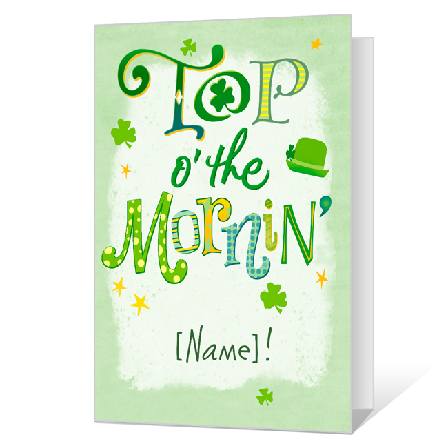 Top o' the Mornin' St. Patrick's Day Cards