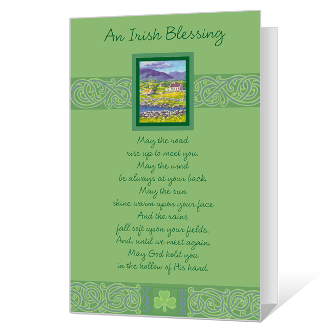 picture regarding Printable Irish Blessing named Printable Playing cards Blue Mountain