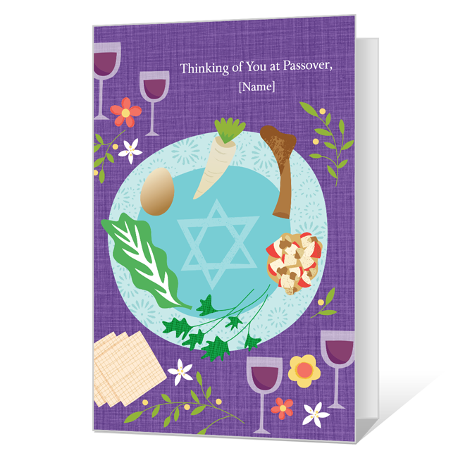 Peace and Happiness Passover Cards