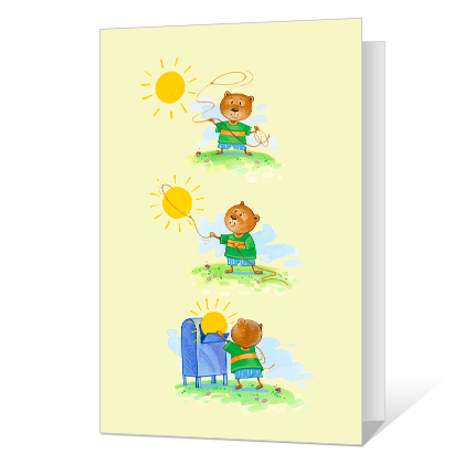 Sending a Little Sunshine Encouragement Cards