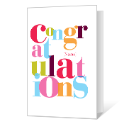 picture about Free Printable Congratulations Cards called Printable Congratulations Playing cards Blue Mountain