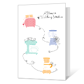 Shower of Wishes Bridal Shower Cards